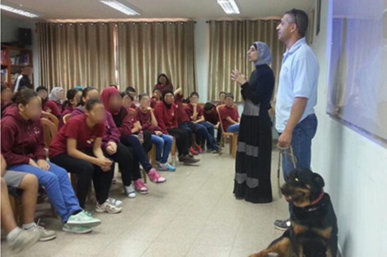 פעילות חינוכית בחטיבת הביניים אלמג'ד בטייבה