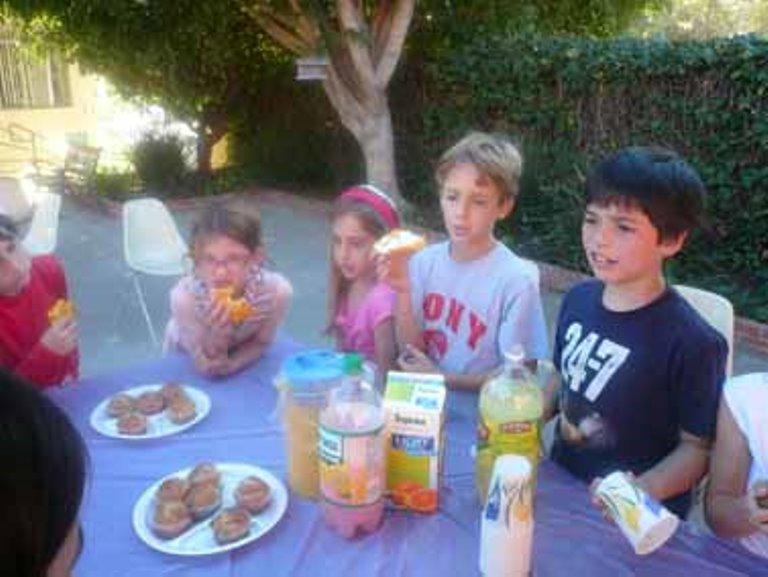 הילדים אפו עוגיות ומכרו לימונדה לתושבי השכונה