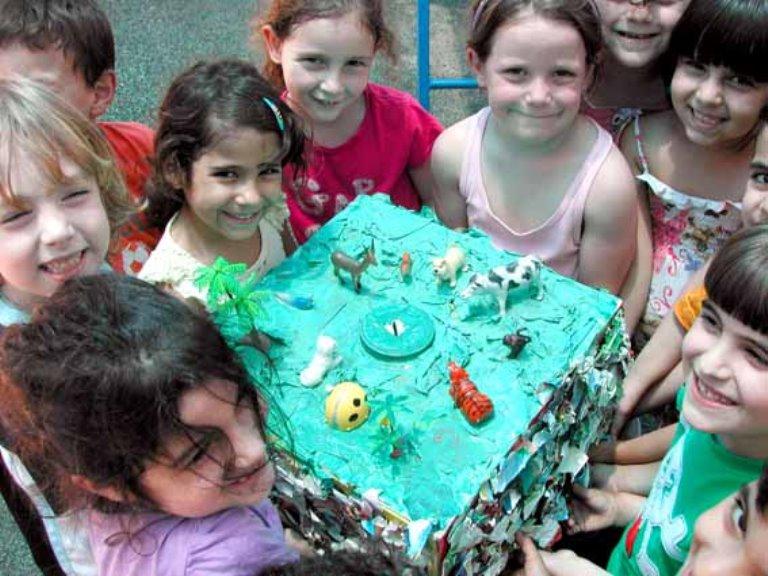 הקופות המרשימות שהכינו ילדי הגן